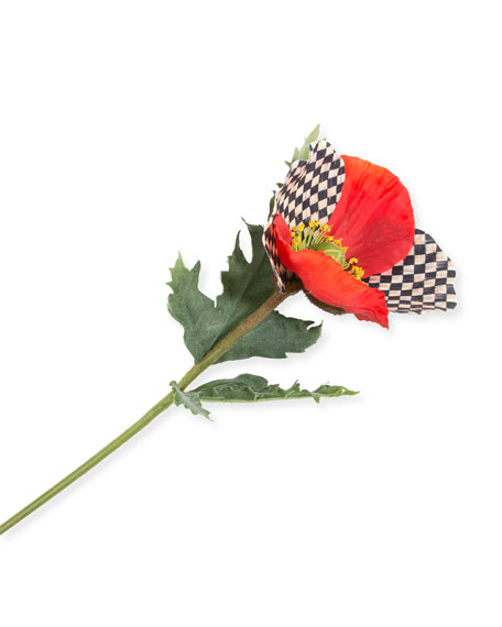 Courtly Check Poppy Decoration