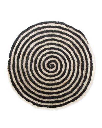 Spiral Swirl Jute Rug  3'Dia.