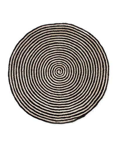 Spiral Swirl Jute Rug  6'Dia.