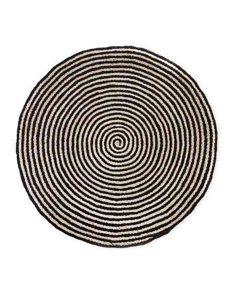 Spiral Swirl Jute Rug, 6'Dia.
