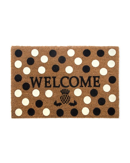 Welcome Dot Entrance Mat