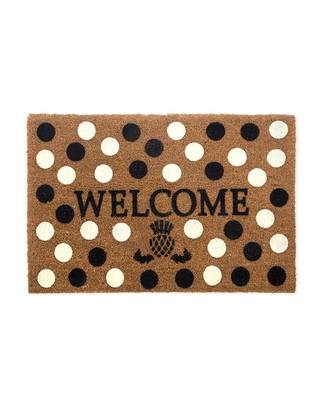 MacKenzie-Childs Welcome Dot Entrance Mat