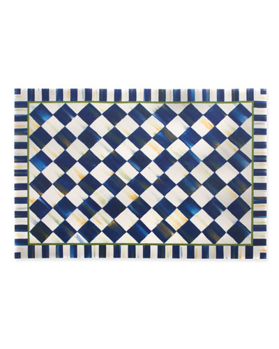 Royal Check Floor Mat  3' x 5'