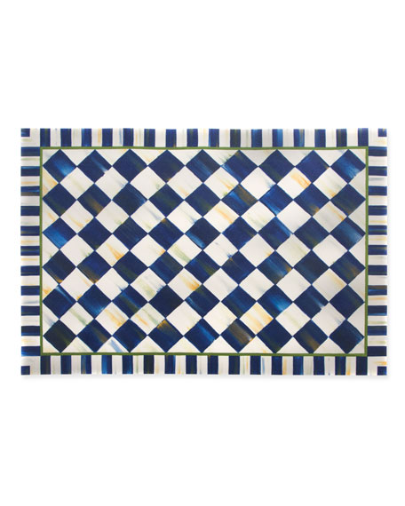 Royal Check Floor Mat, 3' x 5'