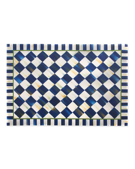 MacKenzie-Childs Royal Check Floor Mat, 2' x 3'