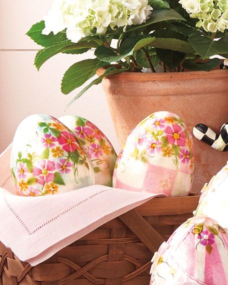 Honeymoon Check Eggs, Set of 3