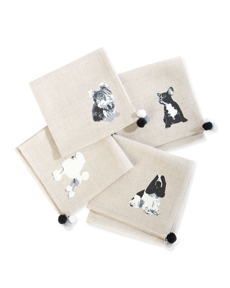 MacKenzie-Childs Hair of the Dog Cocktail Napkins, Set