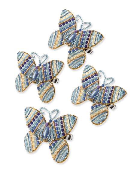 Royal Butterfly Napkin Rings, Set of 4