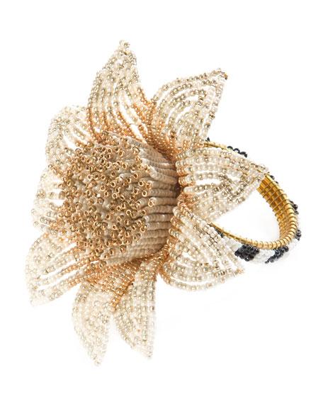 MacKenzie-Childs Blossom Napkin Ring, Gold