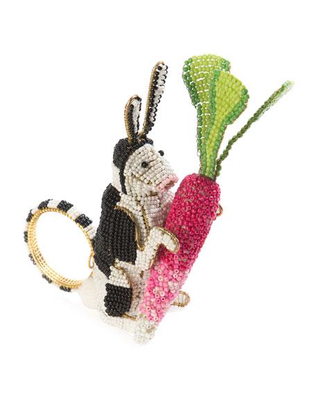 MacKenzie-Childs Runaway Rabbit Napkin Ring