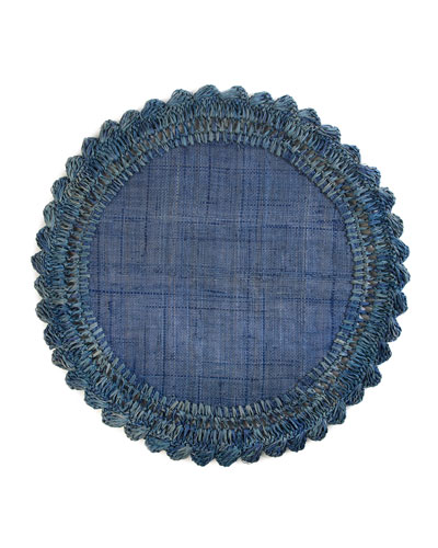 Boheme Raffia Placemat  Sea Blue