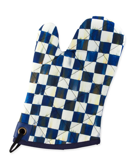MacKenzie-Childs Royal Check Bistro Oven Mitt