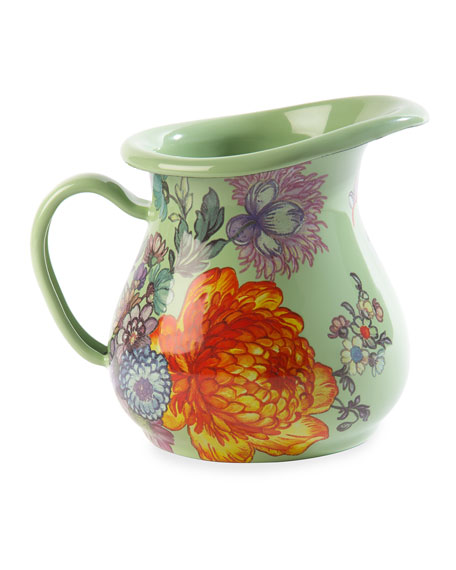 MacKenzie-Childs Flower Market Creamer, Green