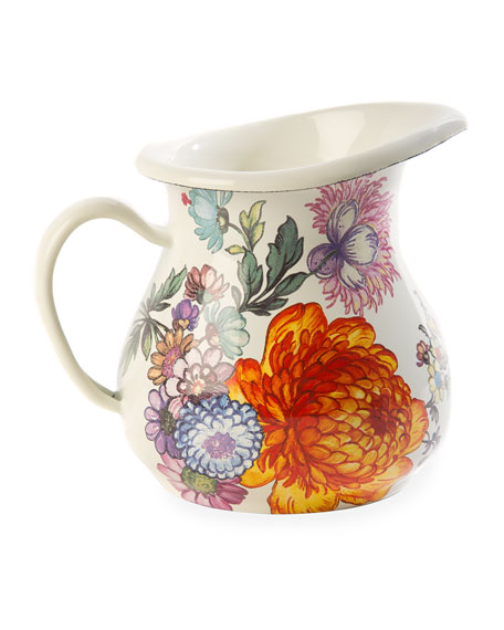 MacKenzie-Childs Flower Market Creamer, White
