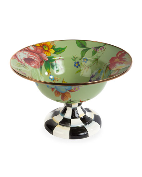 Flower Market Large Compote, Green