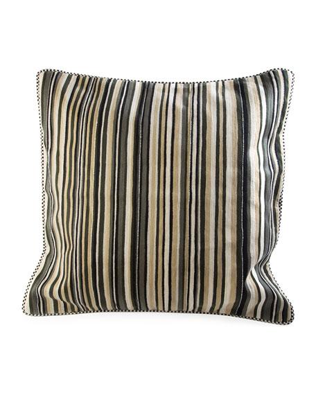 MacKenzie-Childs Hemmings Stripe Square Pillow