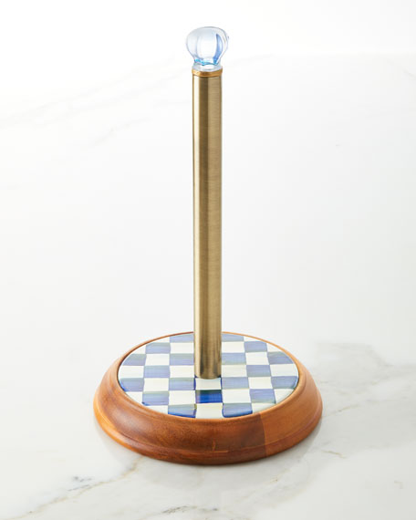 MacKenzie-Childs Royal Check Paper Towel Holder