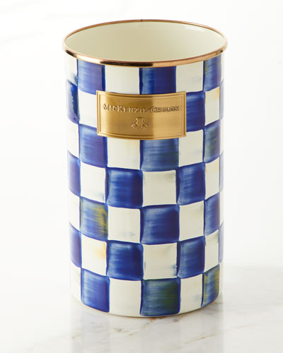 Royal Check Utensil Holder