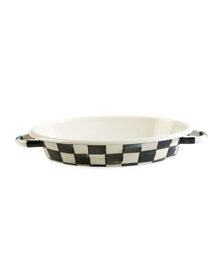 Courtly Check Enamel Oval Medium Gratin Dish