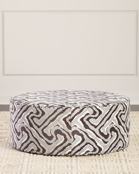 Massoud Emma Geometric Ottoman