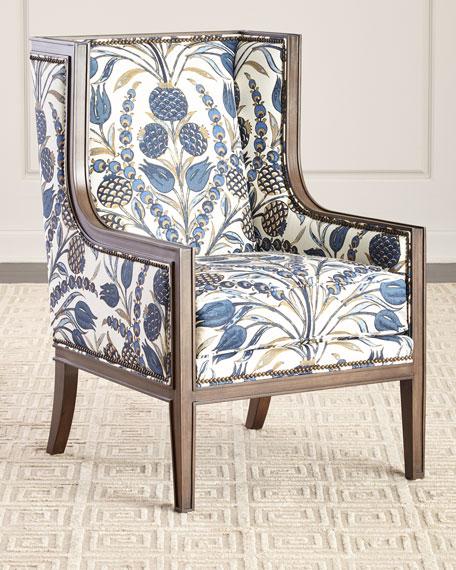 Massoud Ember Linen Accent Chair