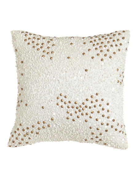 """Reflection Sequin Pillow, 12""""Sq."""