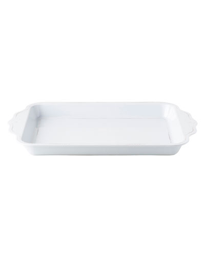 Berry and Thread Whitewash Handled Tray