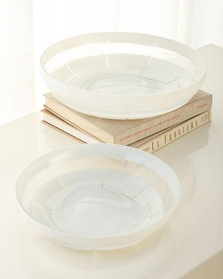 Cutting Glass Bowls, Set of 2
