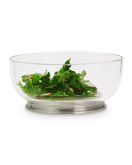 Medium Round Crystal Salad Bowl