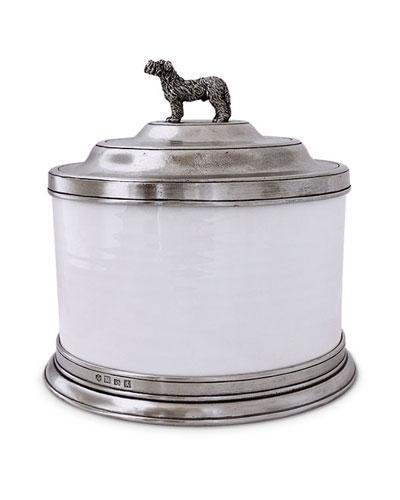 Convivio Cookie Jar with Dog Finial