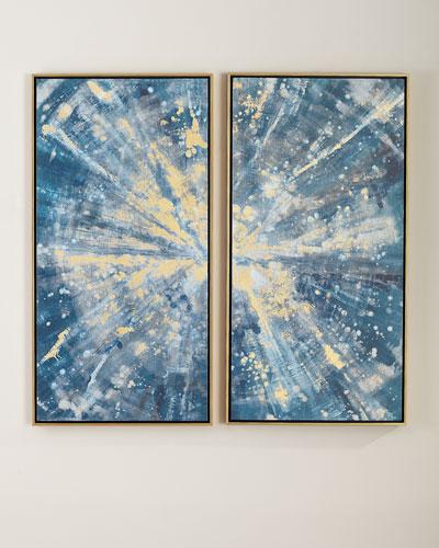 Sparkling Blues Canvas Wall Art Set