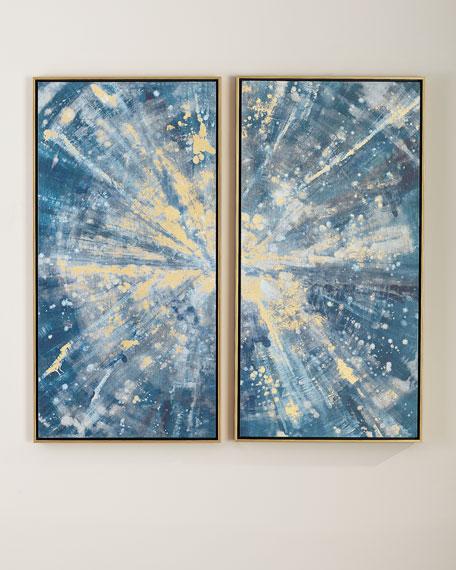 """""""Sparkling Blues"""" Canvas Wall Art Set"""