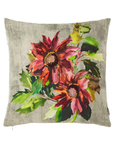 Indian Sunflower Grande Berry Pillow