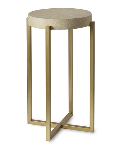 Kendall Faux-Shagreen Accent Table