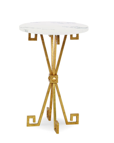 Lisa Gold Leaf Accent Table
