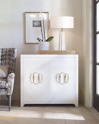 Monroe Faux-Shagreen Cabinet