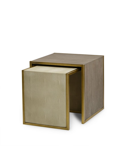 Kendall Faux-Shagreen Nesting Tables
