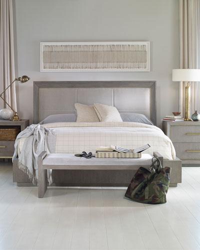 Kendall Velvet Upholstered Queen Bed