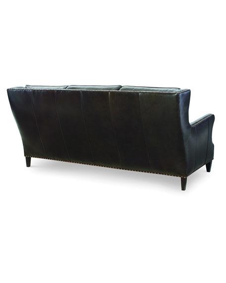 """Avery Leather Sofa, 85"""""""
