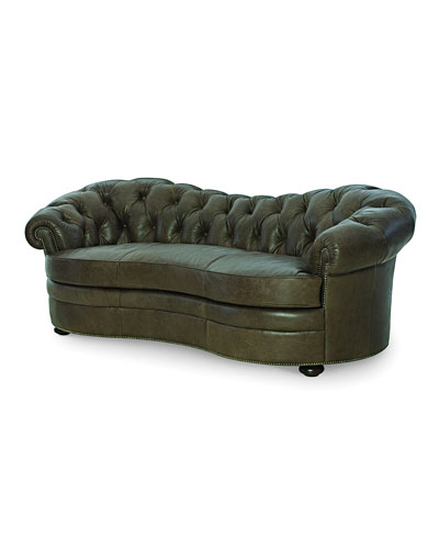 Ebron Curved Leather Sofa  88