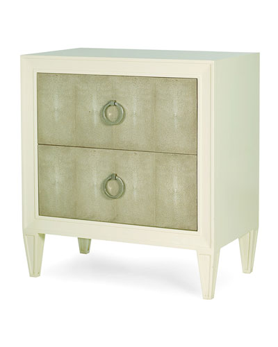 Taylor Faux-Shagreen Night Stand
