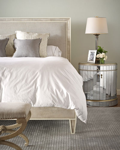 Taylor Faux-Shagreen King Bed