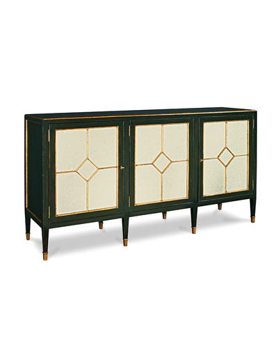 Barrington Eglomise Glass Console