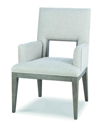 Kendall Linen Cutout Arm Chair