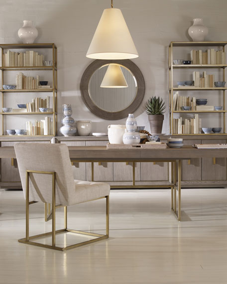 Kendall Metal Frame Tufted Side Chair
