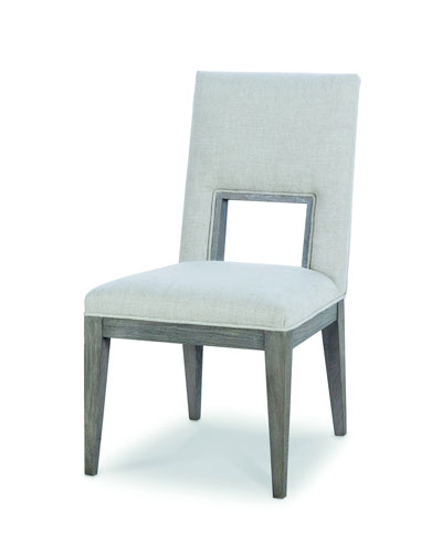 Kendall Linen Cutout Side Chair