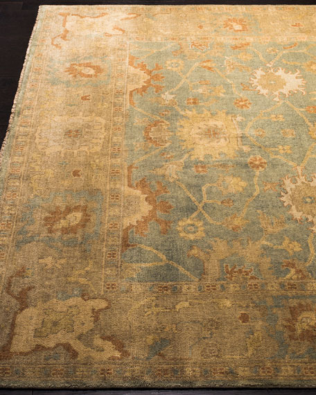 Vegetable Vine Oushak Rug, 10' x 14'