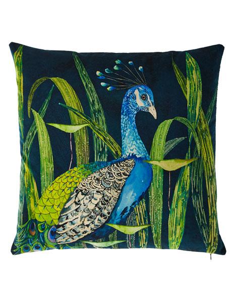 Arjuna Leaf Viridian Pillow