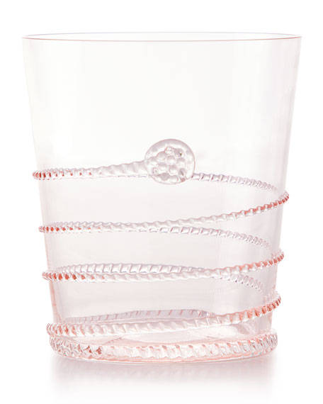 Juliska Amalia Double Old-Fashioned Glass, Petal Pink