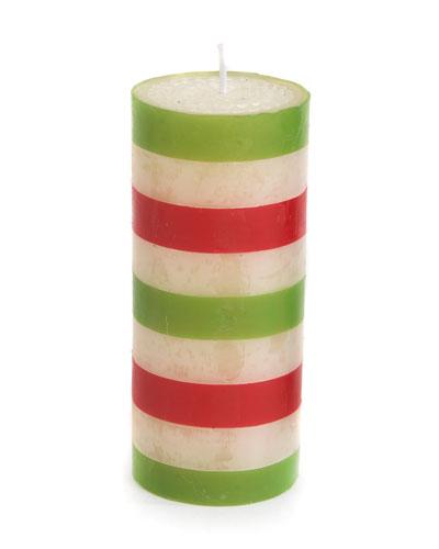 Bands Pillar Candle, 6
